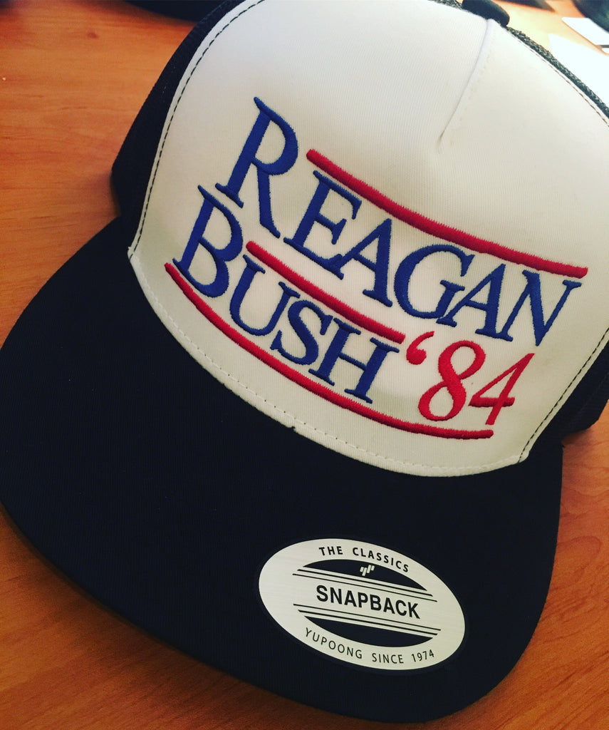ce78f15de24d3 Reagan Bush 84 Hat - Vintage Ronald Reagan 1984 Election Cap – Merica  Supply Co.