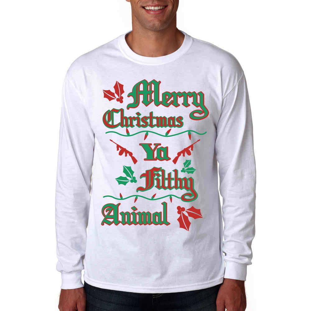 Merry Christmas Ya Filthy Animal Long Sleeve Shirt