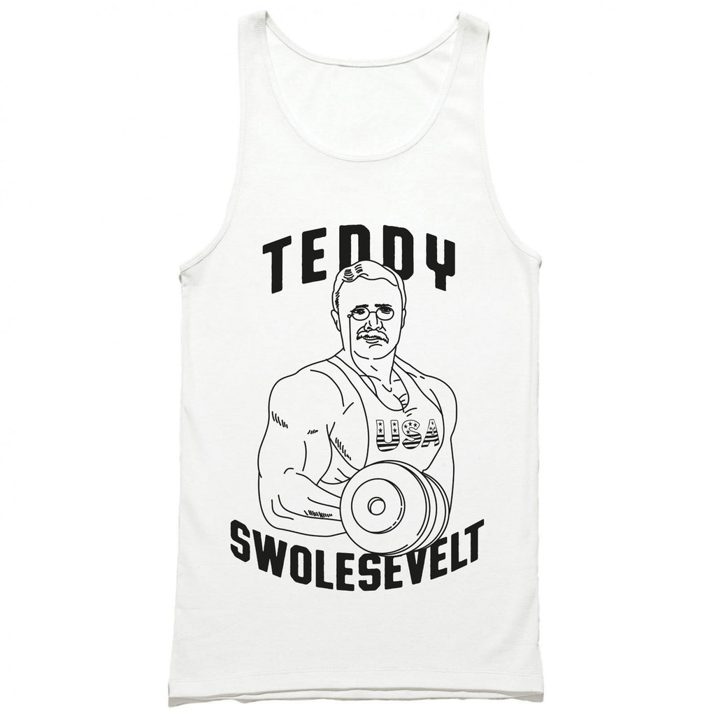 teddy swolesevelt tank top - funny gym tanks