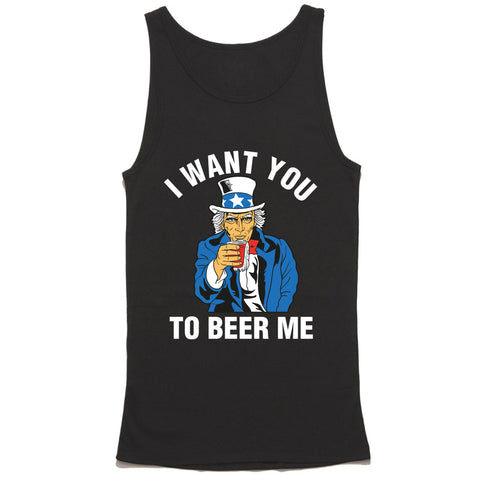 Uncle Sam I want You To Beer Me Tank Top