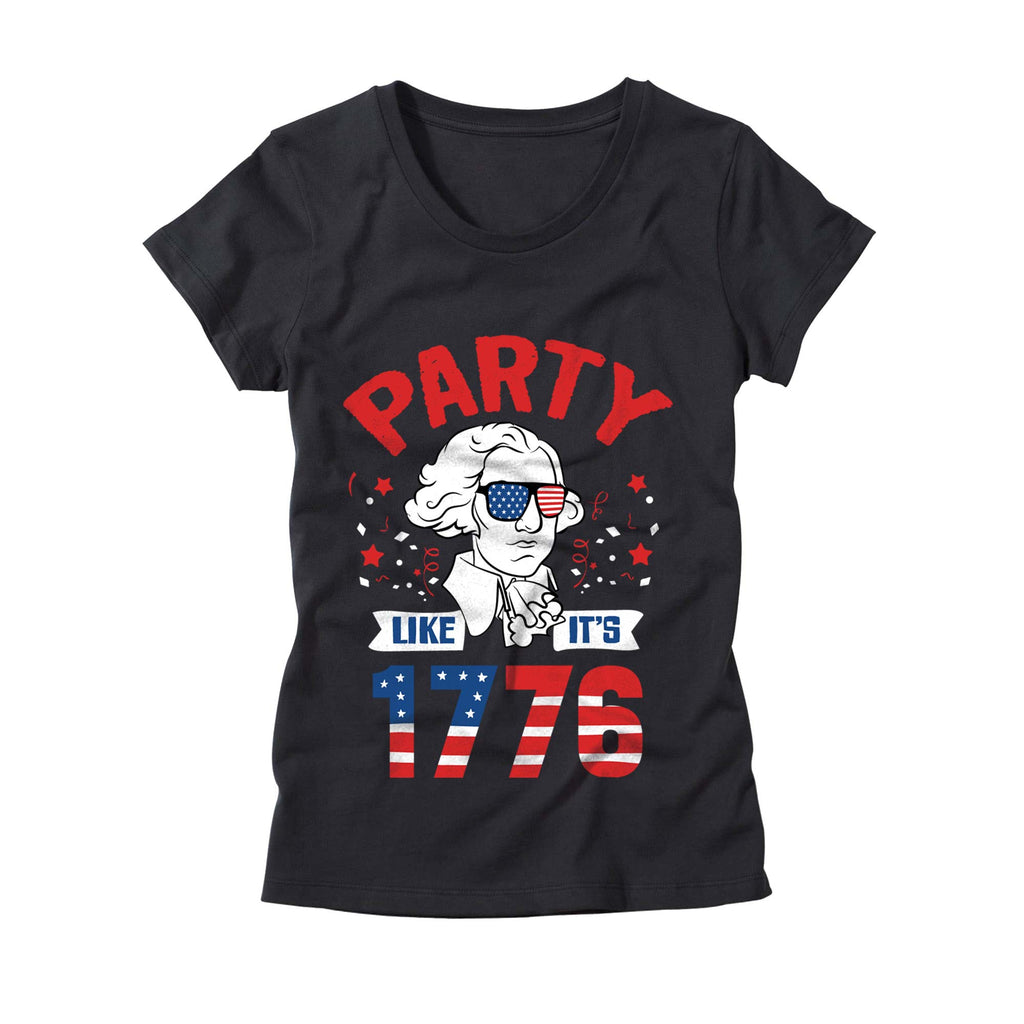 Womens Party Like its 1776 Shirt
