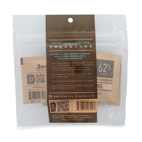 Boveda 62% 8g 10 COUNT PACK
