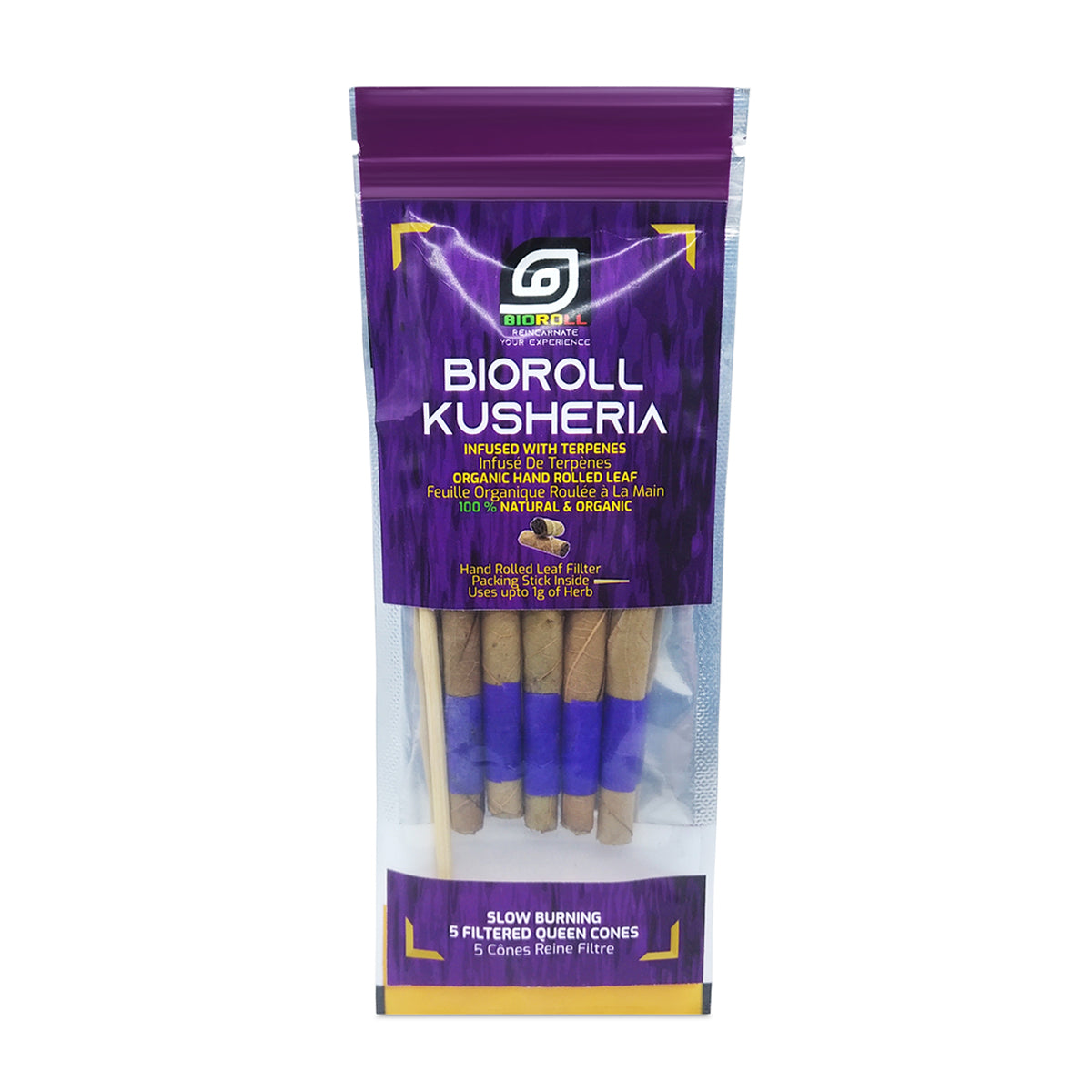 BioRoll™ Kusheria Filtered Terpene Infused Prerolled Cones