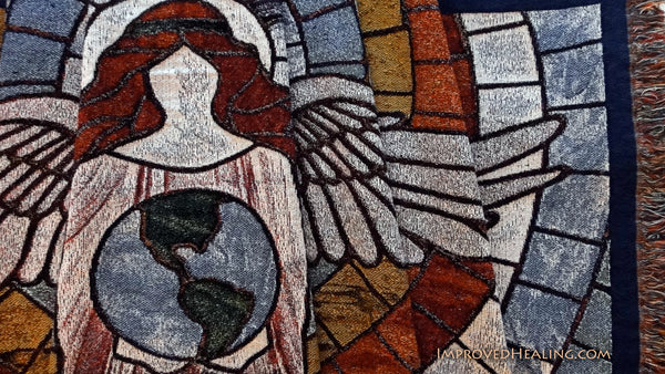 Stained Glass Angel Blanket