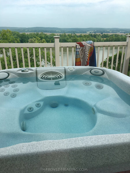 Missouri River and Jacuzzi Hot Tub