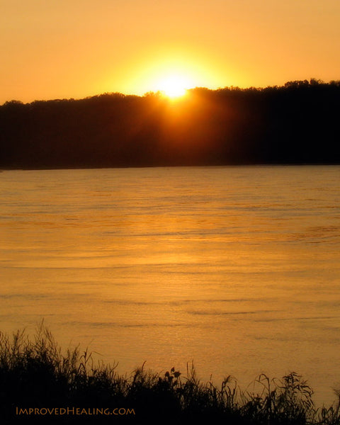 Sunrise on Missouri River