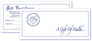Gift Card for services provided by Mary S. Wallis, L.Ac., L.M.T. from Improved Performance Inc.