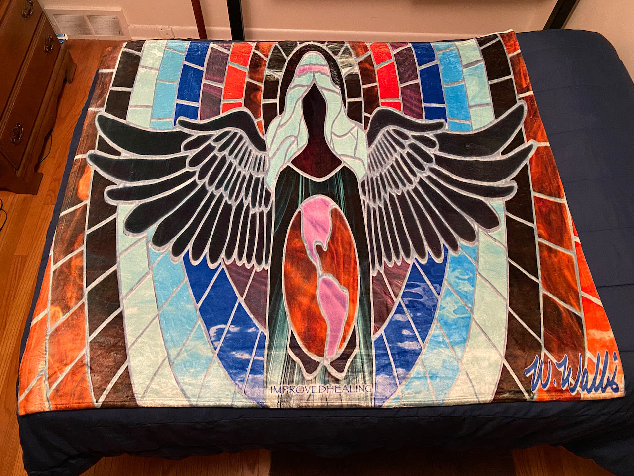 Angel of Healing Throw Blanket - Blue Theme