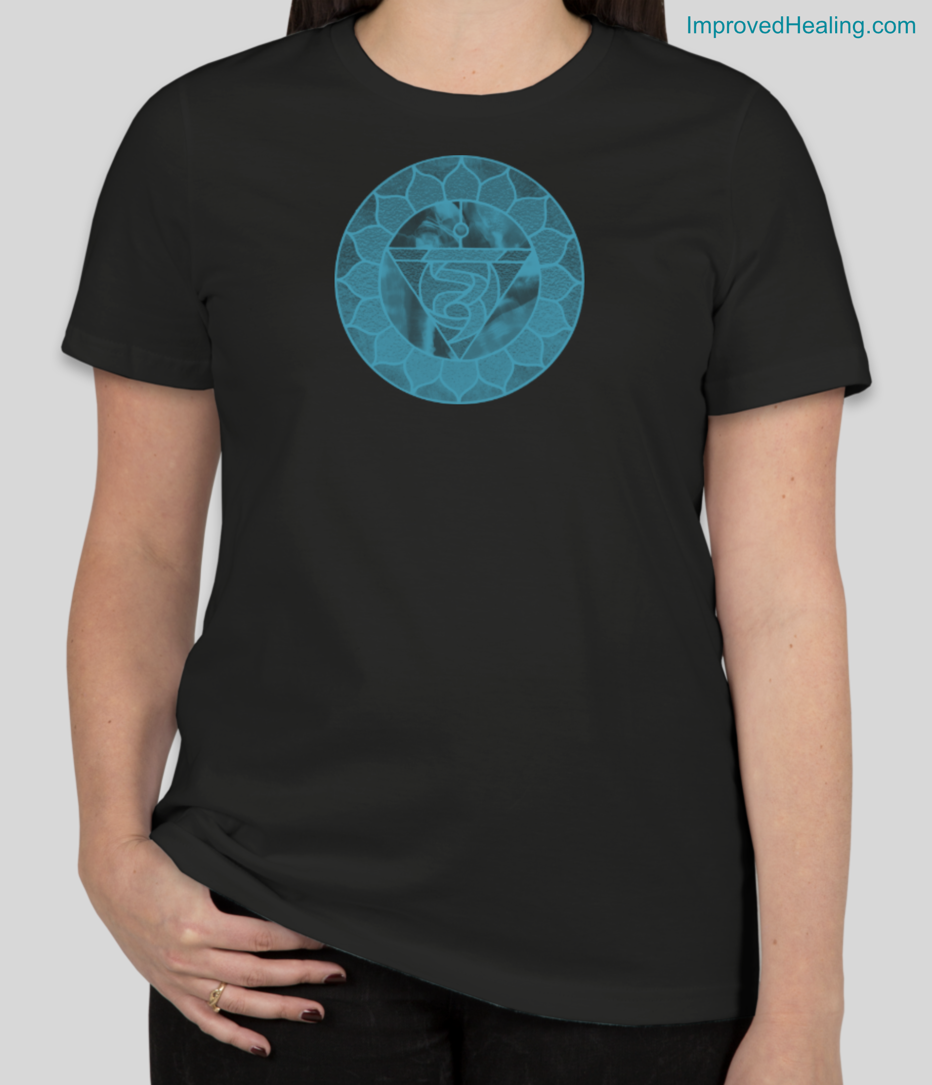 Throat Chakra T-Shirt - Womens - Black