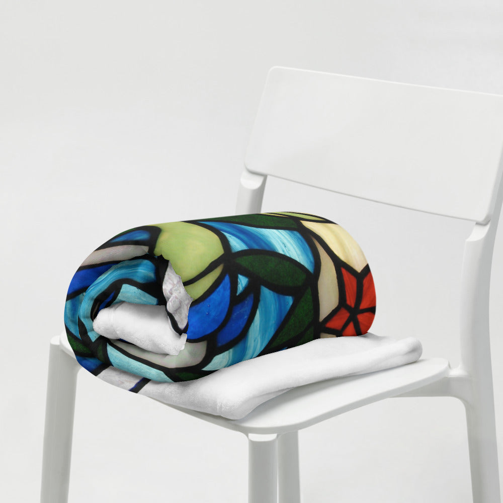 Mermaid and Dolphin Throw Blanket