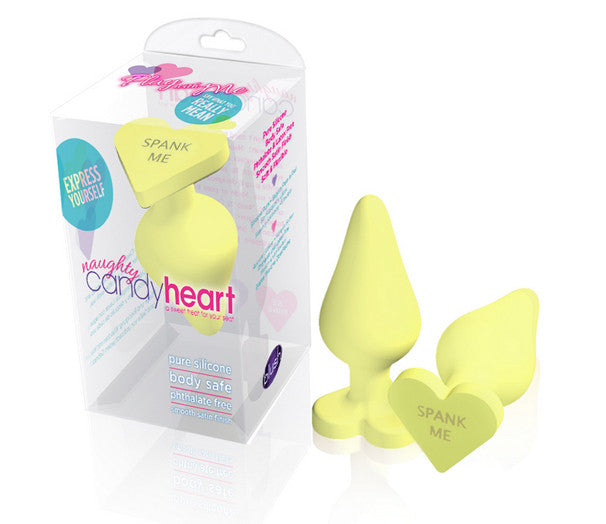 Naughty Candy Heart Spank Me Yellow