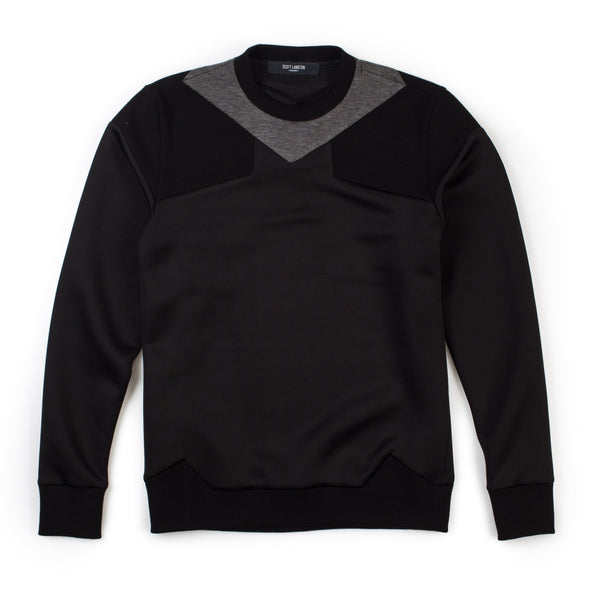 Paneled Neck Sweat (Black)