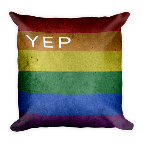 yep Rainbow Pillow