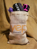 Burlap Bag with Drawstring