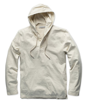 Load image into Gallery viewer, OUTERKNOWN // NEW DENIM PROJECT HOODED HENLEY // RECYCLED WHITE