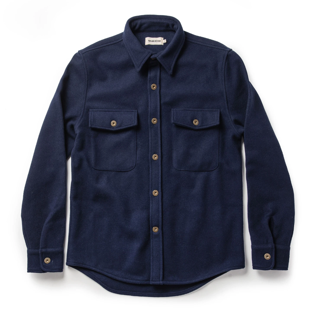 TAYLOR STITCH // THE EXPLORER SHIRT // NAVY BOILED WOOL