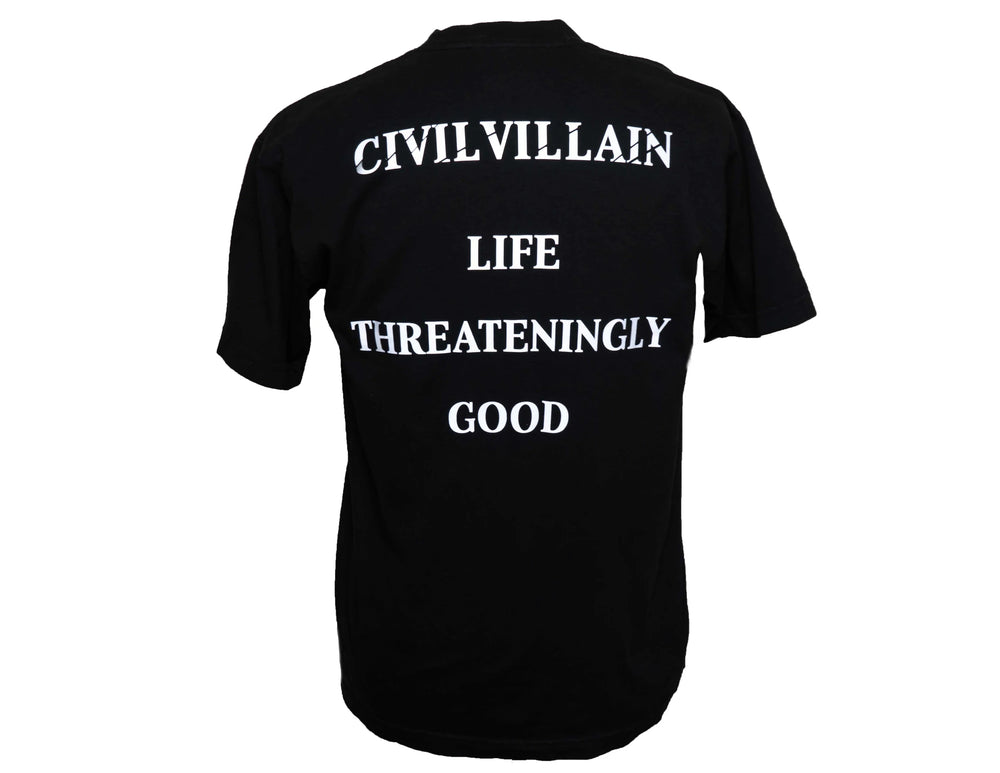 CIVIL VILLAIN // OG Reflective Tee // Black