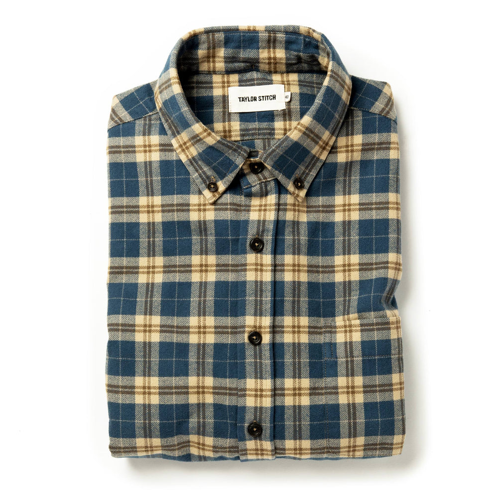 TAYLOR STITCH // THE JACK // BRUSHED NAVY PLAID