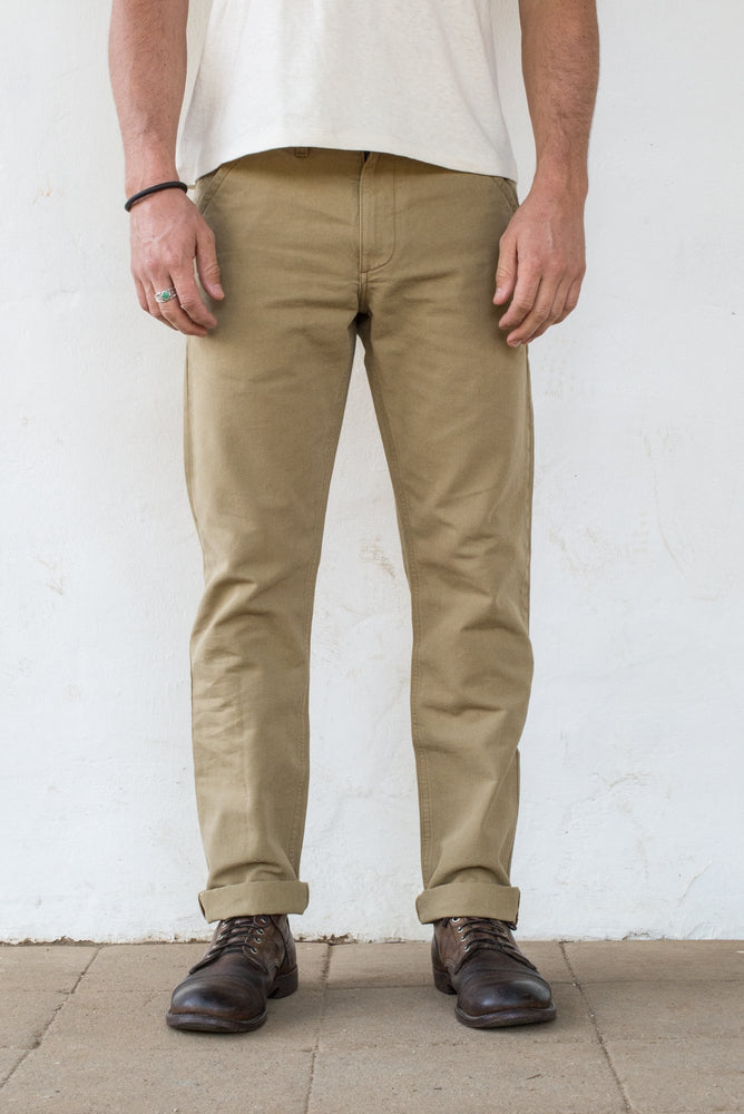 FREENOTE CLOTH Workers Chino Slim Fit // Khaki