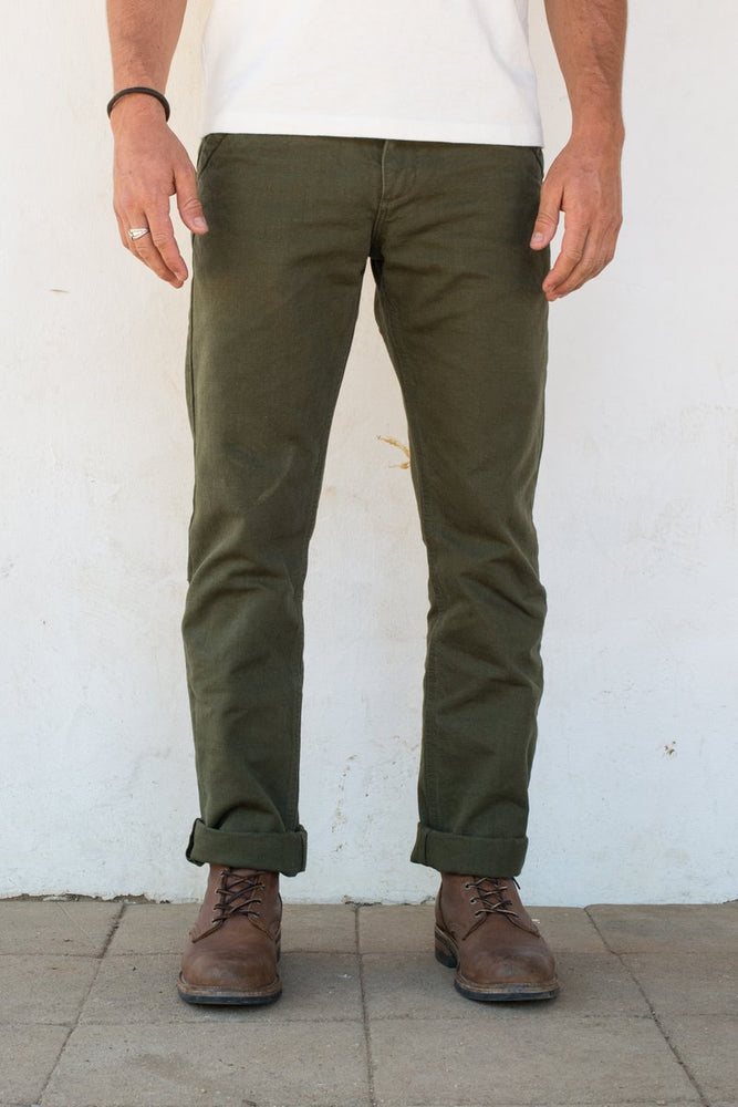 FREENOTE CLOTH Workers Chino Slim Fit // Army Green