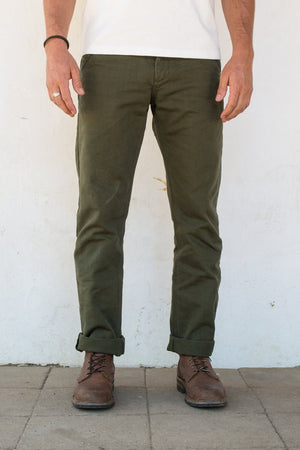 Load image into Gallery viewer, FREENOTE CLOTH Workers Chino Slim Fit // Army Green