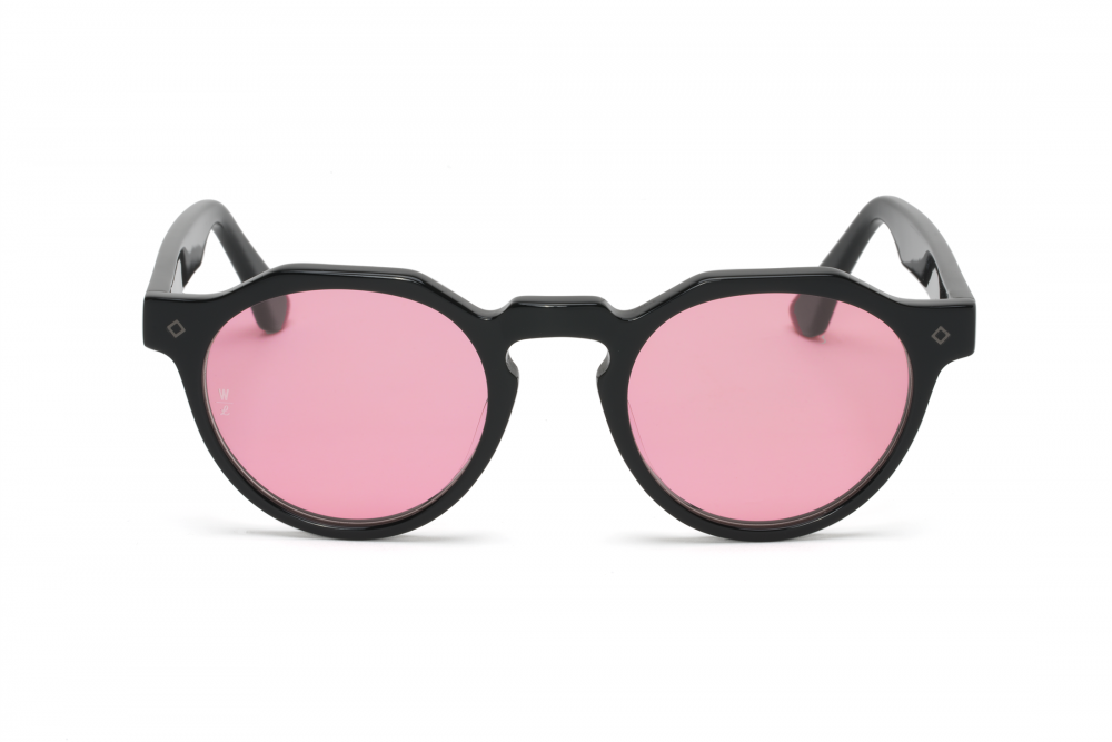 Load image into Gallery viewer, WONDERLAND Fontana // Gloss Black / Pink Rose Carl Zeiss Lens