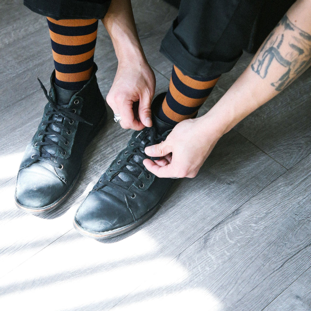 Load image into Gallery viewer, TAILORED UNION Bande Socks // Available in 3 Colors