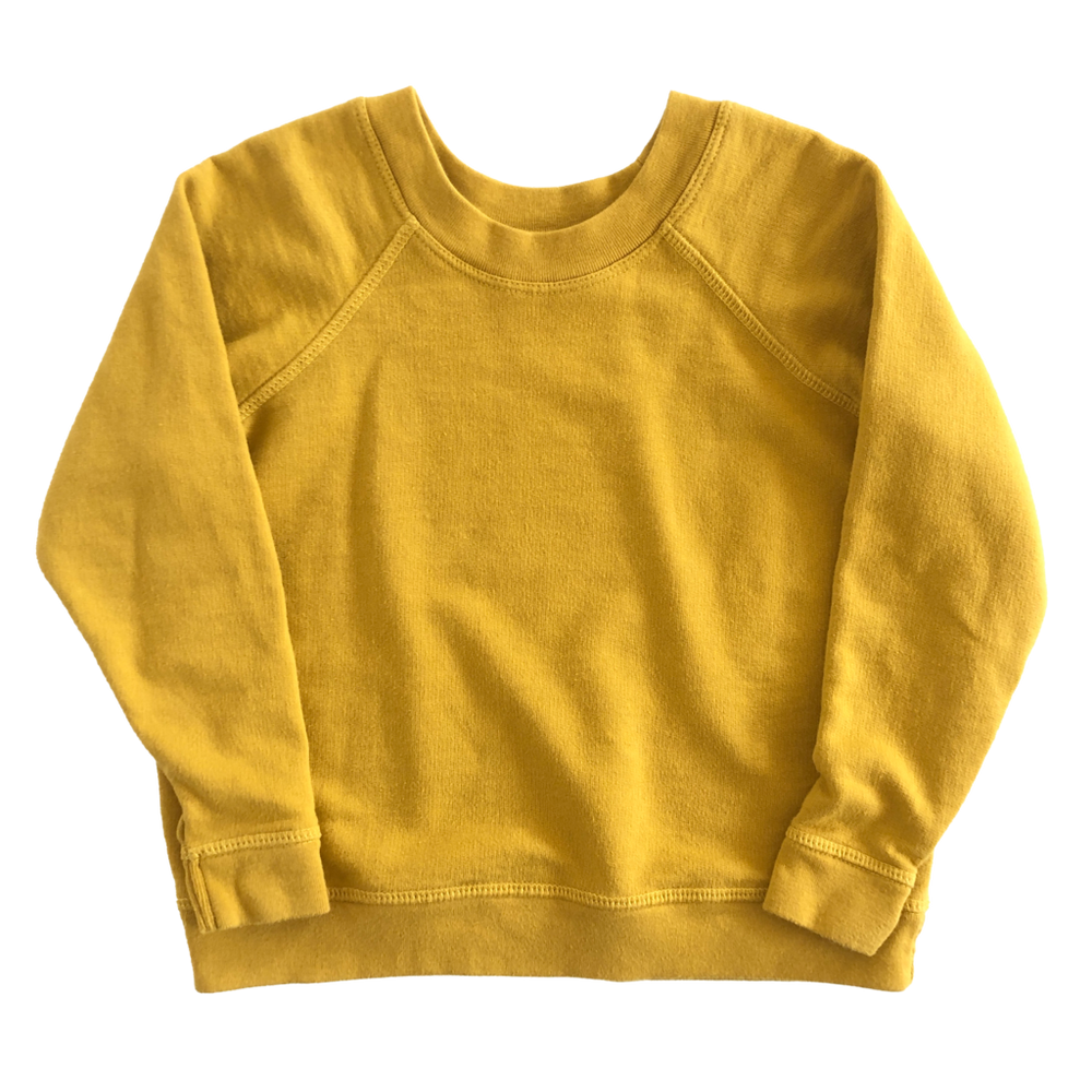 HEY GANG Kid's Raglan Sweatshirt // Dandelion