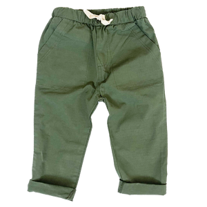 Load image into Gallery viewer, HEY GANG Kid's Everyday Drawstring Pant // Army Green