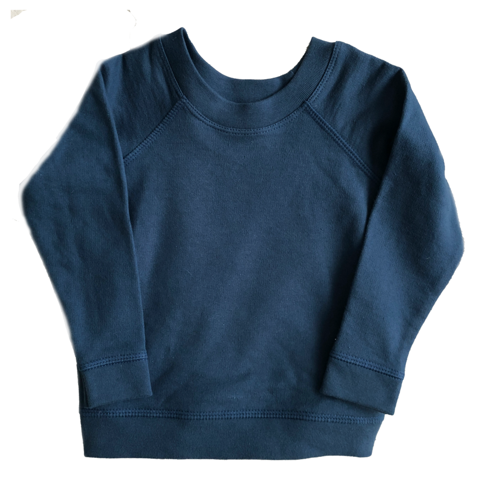 HEY GANG Kid's Raglan Sweatshirt // Denim