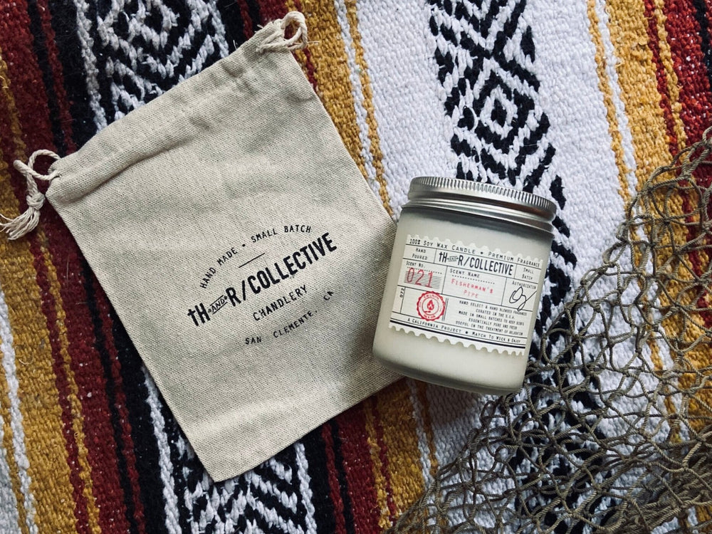 TH & R COLLECTIVE // 7.5oz Glass Jar Candles // Fisherman's Pipe