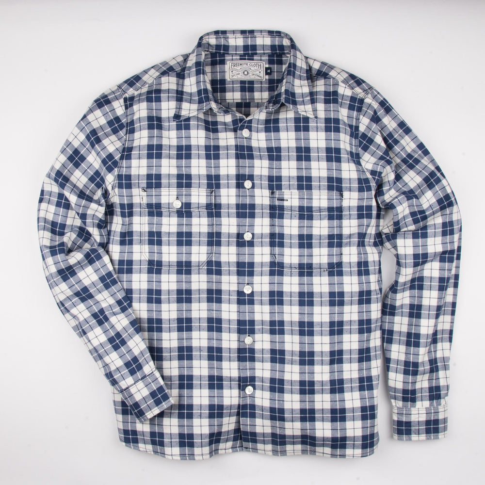 Load image into Gallery viewer, FREENOTE CLOTH // MARINER BLUE PLAID