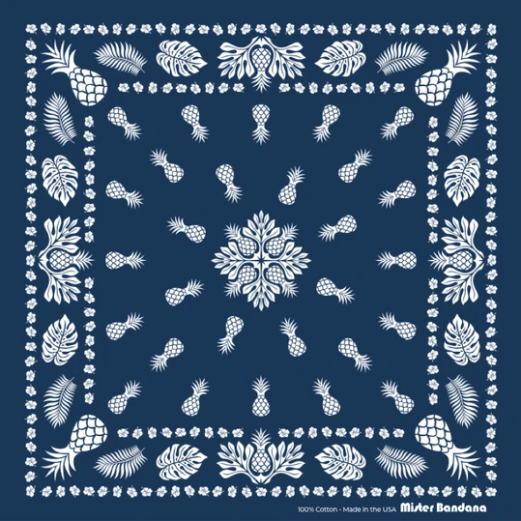 MISTER BANDANA Simple Times Bandana // Navy
