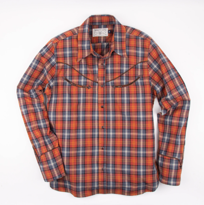 FREENOTE CLOTH // RAMBLER HONKY TONK SHIRT // RUST PLAID