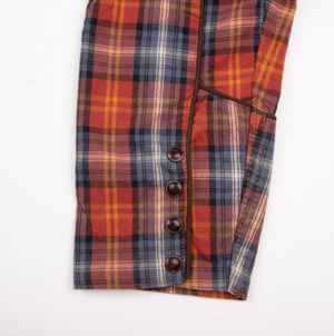 Load image into Gallery viewer, FREENOTE CLOTH // RAMBLER HONKY TONK SHIRT // RUST PLAID