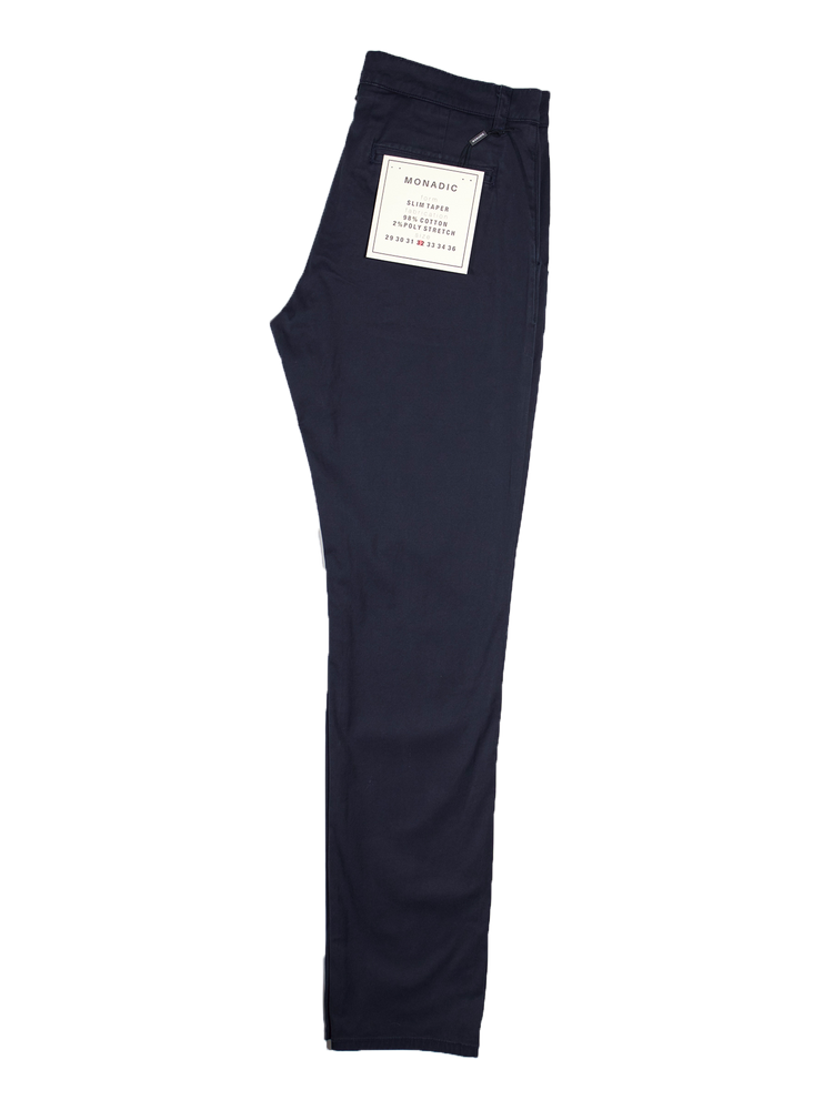 MONADIC Slim Taper Stretch Chino // Navy