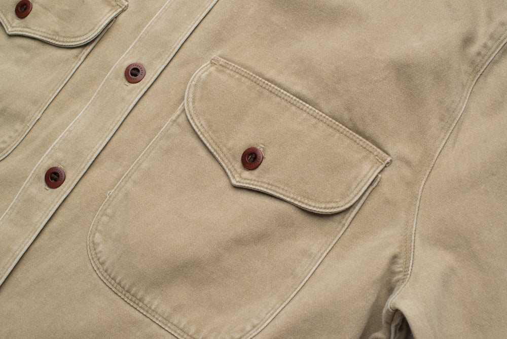 Load image into Gallery viewer, FREENOTE CLOTH // UTILITY SHIRT // KHAKI
