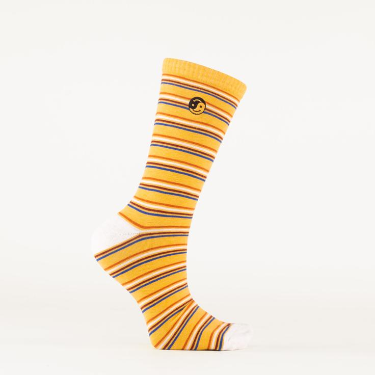 TAILORED UNION Men's All Good Socks // Gold Striped