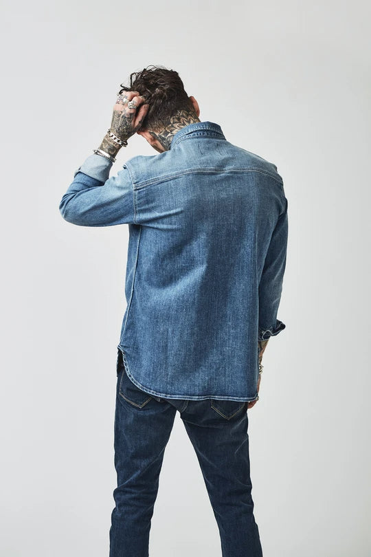 Load image into Gallery viewer, BOWIE & CO // Aimi Heavy Denim Shirt // Olden Denim
