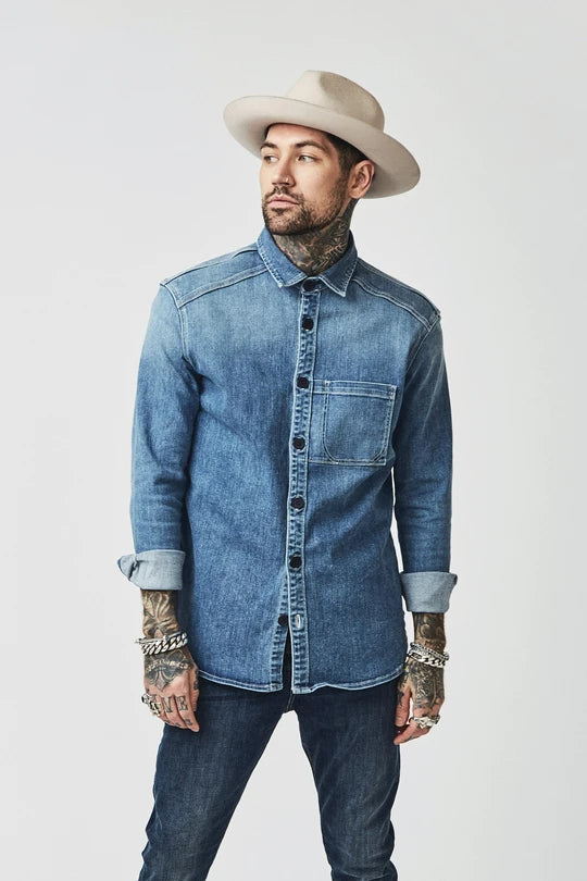 BOWIE & CO // Aimi Heavy Denim Shirt // Olden Denim