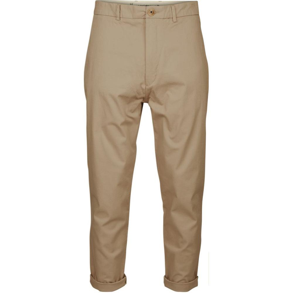 KNOWLEDGE COTTON Bob Cropped Chino // Khaki