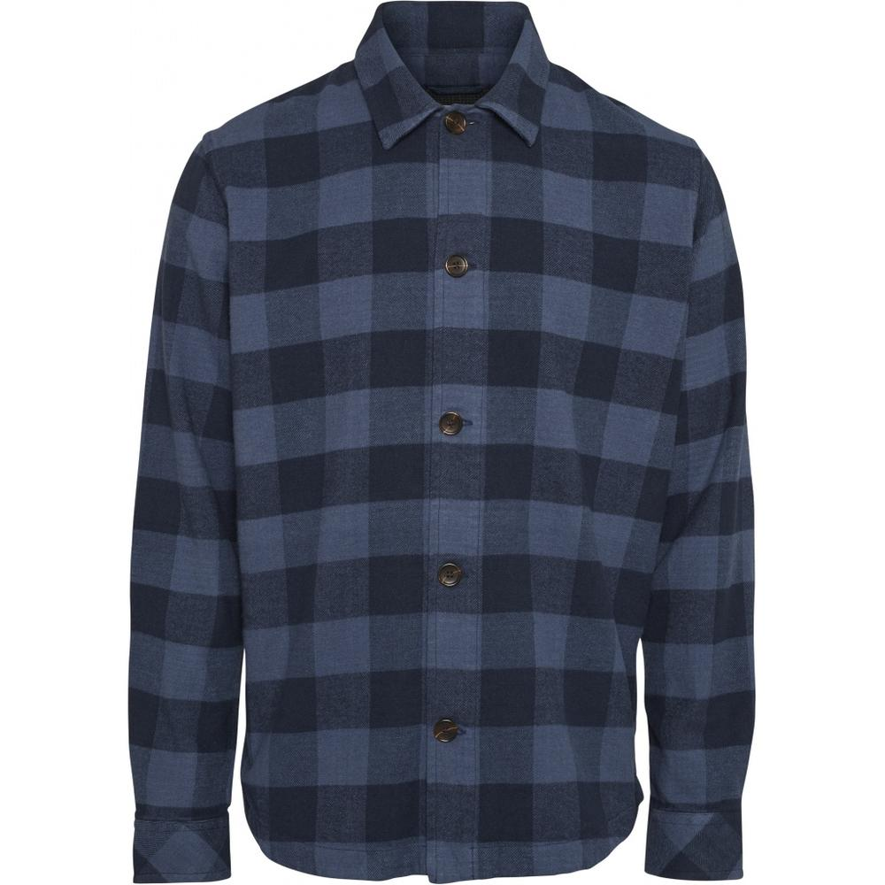 KNOWLEDGE COTTON Brushed Checked Flannel // Total Eclipse