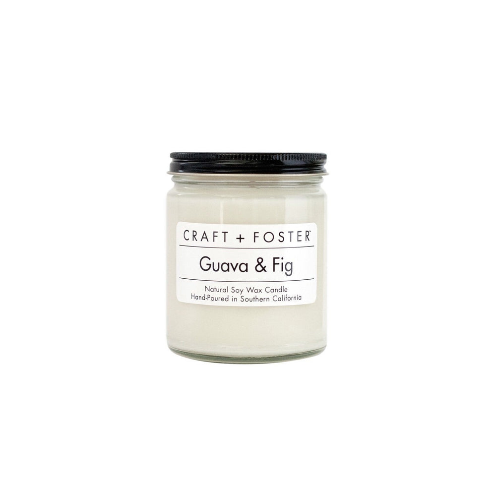 CRAFT + FOSTER Natural Soy and Wax Candle // Guava & Fig 8 Oz.