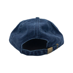 "Load image into Gallery viewer, FREE & EASY ""Don't Trip"" Washed Soft Brim Hat // Navy"