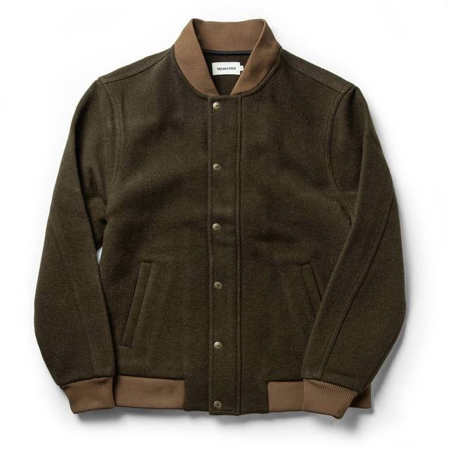 TAYLOR STITCH // BOMBER JACKET // OLIVE WOOL