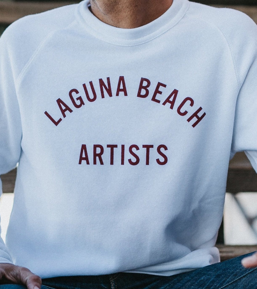 NORTH Laguna Beach Artists Crew Pullover // White