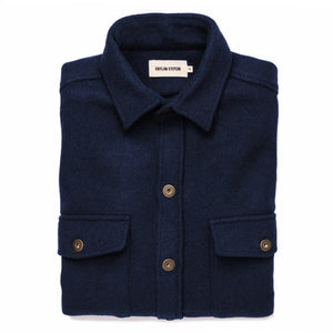 Load image into Gallery viewer, TAYLOR STITCH // THE EXPLORER SHIRT // NAVY BOILED WOOL
