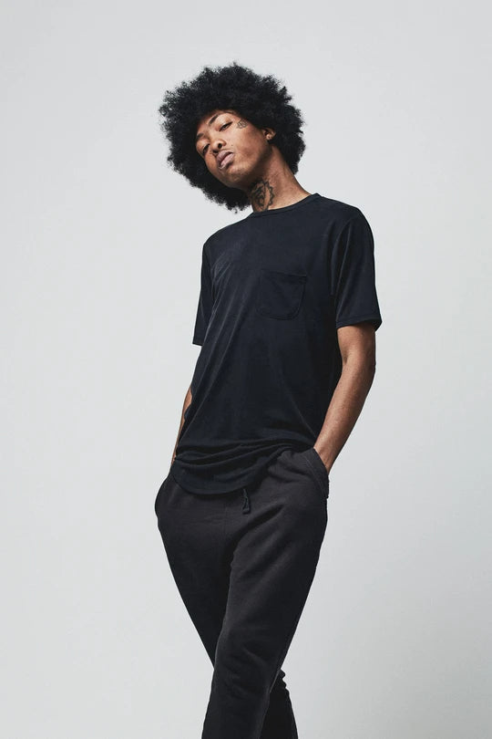 Load image into Gallery viewer, BOWIE & CO // Nihon Luxury Pocket T // Waxen Black