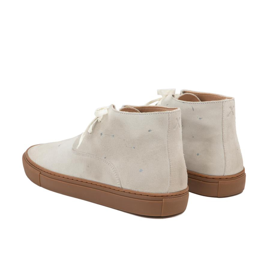Load image into Gallery viewer, ESQUIVEL // Dandy Hi Weekender // White Distressed Suede
