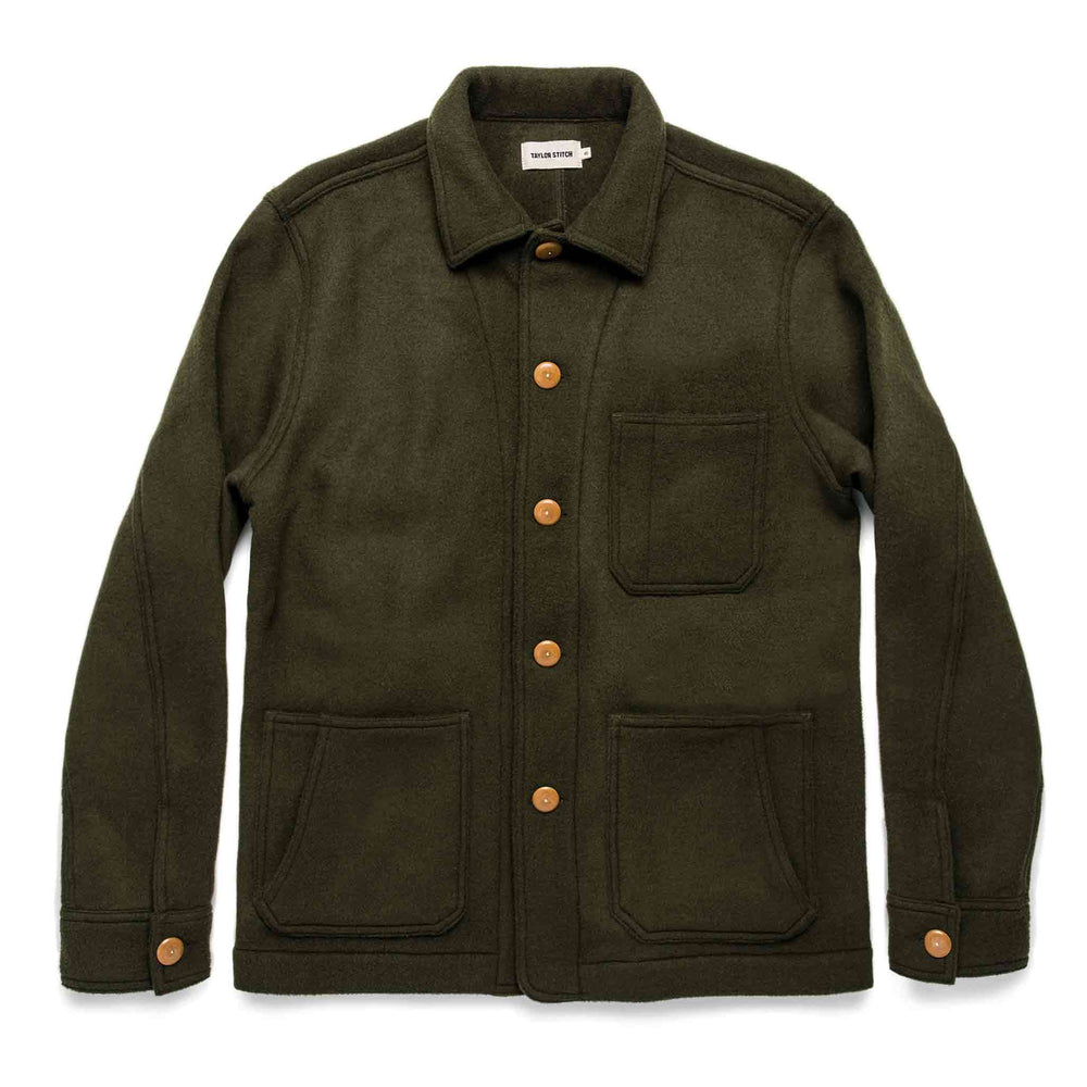 TAYLOR STITCH // THE OJAI JACKET // OLIVE WOOL and CHARCOAL